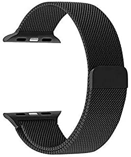 For Apple Watch 42mm - Magnetic Milanese Loop Stainless Steel Metal Band For Apple iWatch 42mm -Black