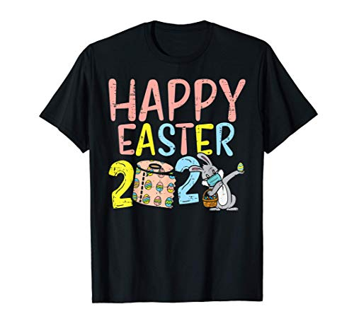 Happy Easter 2021 Toilet Paper Bunny In Mask Dab Quarantine T-Shirt