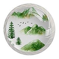 グリーンマウンテン, 引き出しノブプルハンドルパーフェクトデザインドレッサー食器棚ワードローブプルハンドル4個の食器棚用ノブネジ付き