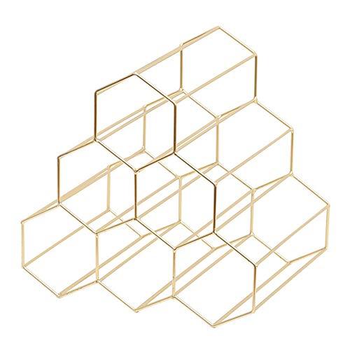 DAXINYANG Botellero geométrico Creativo de Metal para el hogar, Vino, Restaurante, Sala de Estar, Bar, Vino, Vitrina