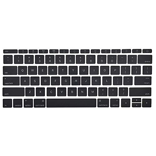 MMOBIEL US Keyboard Key Caps Full Set Replacement Compatible with MacBook Pro Retina 13' 15' A1706 A1707 A1708 (Black)