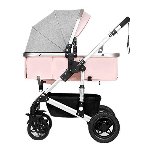 Poussettes Bébé, Pliant Léger Amortisseur Enfants Pousser Chariots De Bébé Infantile Chariot en Acier Au Carbone Cadre