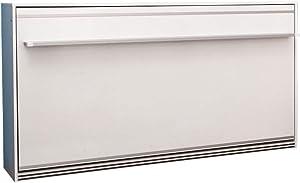 Zata Home Primer Life - Cama Plegable para Armario, 90 x 190 cm, Color Blanco, Ideal como Cama Plegable de Pared para Habitaciones de Invitados, Oficina, salón, Dormitorio