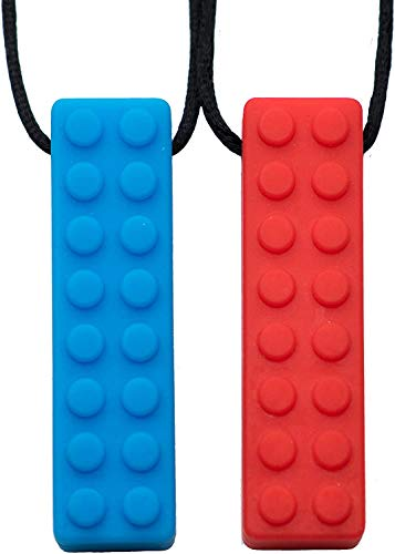 Tilcare Chew Chew Sensory Necklace – Best for Kids or Adults That Like Biting or Have Autism – Perfectly Textured Silicone Chewy Toys - Chewing Pendant for Boys & Girls - Chew Necklaces