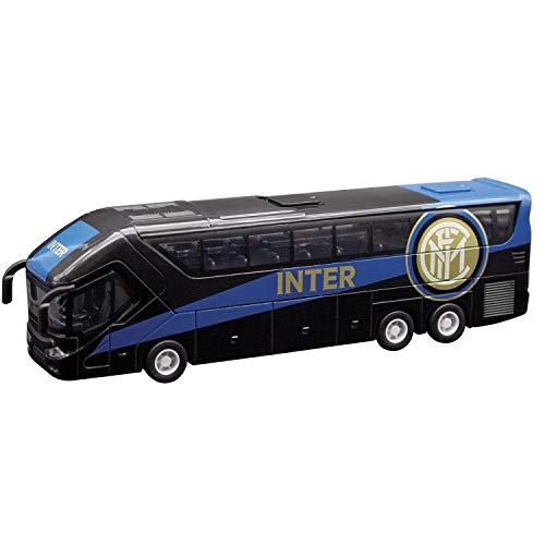 Mondo Motors - Pullman F.C. Internazionale Milano - modellino giocattolo - Bus con retrocarica frizione pull back - Colore Nero Azzurro - 51214