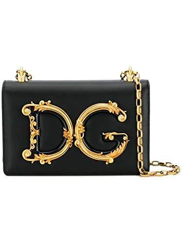 Moda De Lujo | Dolce E Gabbana Mujer BB6498AZ80180999 Negro Cuero Bolso De Hombro | Temporada Permanente