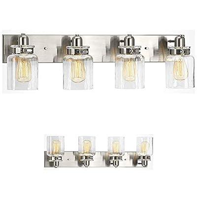 Bathroom Vanity Light Fixture - Bath Interior Lighting (Brushed Nickel, 4 - Lights)