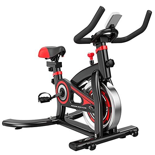 Spinning Bike Bicicleta Estática para Gimnasio En Casa, Accionamiento por Correa Silencioso Bicicleta De Ciclismo Estacionaria para Interiores, Bicicleta De Spinning Aeróbica