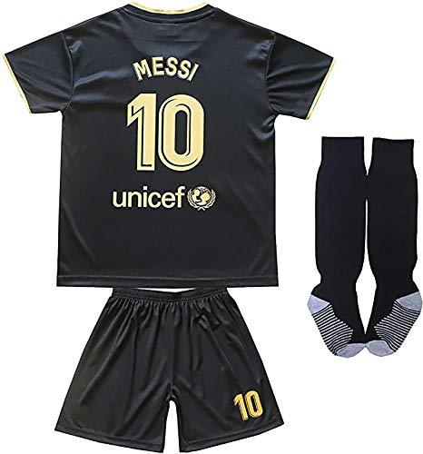 KARPOS 2020/2021 Season Messi Jersey Shorts & Socks for Kids/Youths (Messi Away, 9-10Year/Size24)