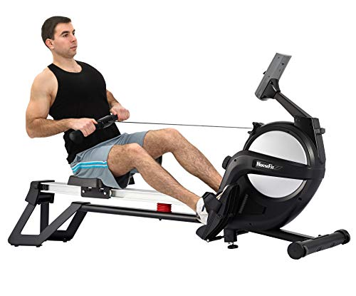 HouseFit Rowing Machines for Home use 300Lbs Weight Capacity Magnetic Resistance Row Machine Exercise with LCD Display and iPad Phone Mount