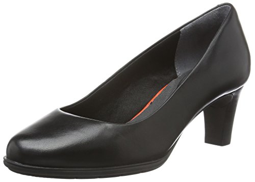 Rockport TM60MMH Plain Damen Pumps, Schwarz (Black Burn Calf), 39.5 EU (6 UK)