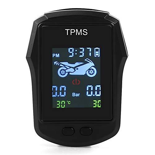 KANUBI Motorrad-Reifendrucküberwachungssystem, Reifendrucküberwachungssystem, wasserdichte drahtlose hochpräzise Motorrad-Reifendruck-Erkennung des externen Reifendrucks für elektrische Motorräder