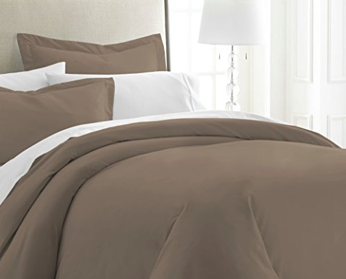 Becky Cameron ienjoy Home 3 Piece Double Brushed Microfiber Duvet Cover Set, Twin XL, Taupe