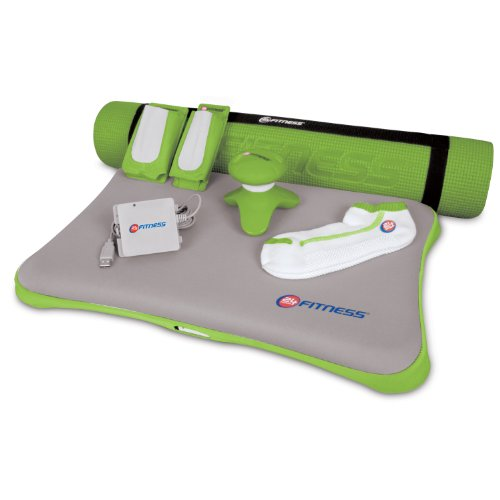 dreamGEAR Nintendo Wii 7-in-1 24 Hour Fitness Bundle (green)
