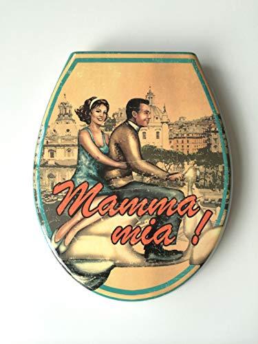 ADOB Design WC Sitz Mama Mia Klobrille Klodeckel Toilettendeckel aus Duroplast, Absenkautomatik, Softclose, zur Reinigung abnehmbar, 59832