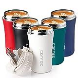 KETIEE Thermobecher kaffee to Go, 380ml Edelstahl Doppelwandig Isoliert Kaffeebecher mit Deckel, BPA-Frei,Wiederverwendbare Kaffeetasse Travel Mug Becher mit Strohhalm