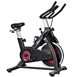 FISUP Exercise Bike Indoor Cycling Bike Cardio Stationary Fitness Bike with Belt Drive System for Home Gym (28 LBS Flywheel; 440 LBS Weight Capacity)