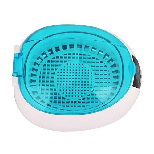 NSDFG Ultraschallreiniger Kleines Ultraschall-Reinigungsgerät 50W Edelstahl Liner ABS Shell Umweltschutz Kleiner Schmuck Klammern Gebiss Kontaktlinsen-Reiniger Gläser Halskette Mini-Waschmaschine
