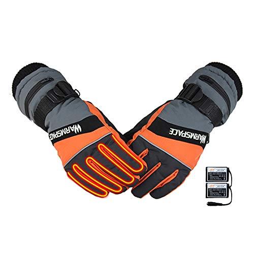 NCBH warmtewerende handschoen, USB elektrische verwarmde handschoenen 3,7 V 2000 MAH Fleece 50 °C constante temperatuur warmte, waterdicht, touchscreen warm tot 4 H