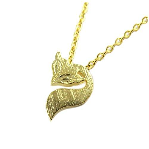 7bis [Q1488 - Necklace handcrafted 'Renard' golden - 10x8 mm (0.39''x0.31'').