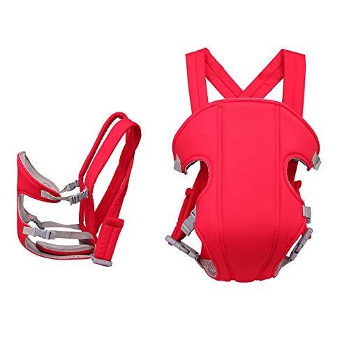 LYXCM Babytrage Hüftsitz, Baby-Kleinkind-Gurt-Taillen-Schemel-Art Und Weise Einfacher Vier Jahreszeiten-Universalvorderer Umarmungs-Rückseiten-Schulter-Multifunktionsgurt,Red