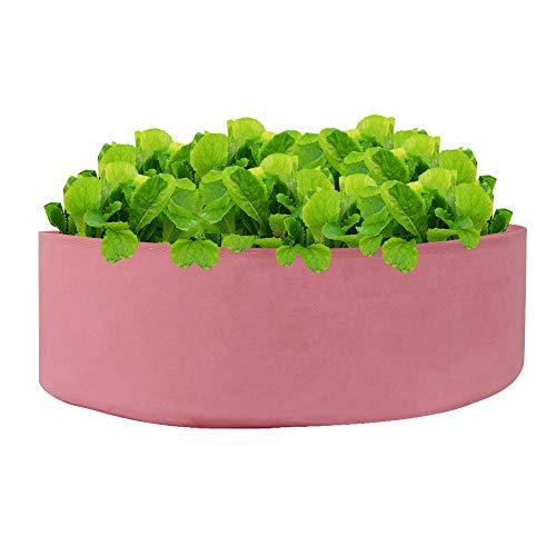 Sac de plantation Hunpt en tissu non tissé, sac de jardinage surélevé rond respirant, récipient de culture pour extérieur, intérieur, herbes, fleurs, légumes, plantes B b