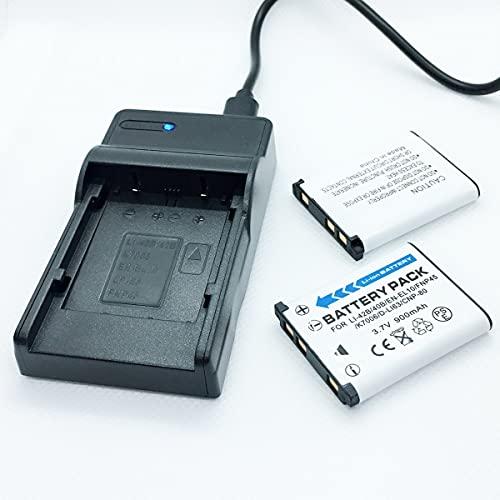 F-MINGNIAN-SPRING Kit de cargador de batería rápida para cámaras Nikon CoolPix S60, S80, S600, S700