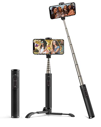 BlitzWolf Selfie Stick Bluetooth, Bastone Selfie Monopiede Asta Selfie Treppiede in Alluminio con Telecomando Wireless per iPhone XS/XS Max/XR/X /8 /8P, Samsung Galaxy S10/ S9, Huawei P20, ECC