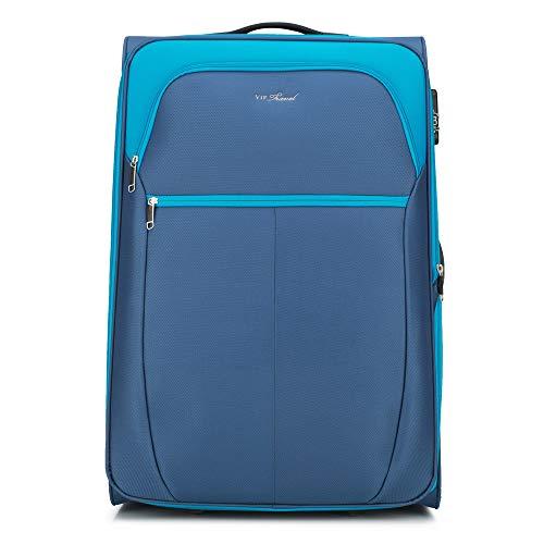 WITTCHEN Koffer – Großer   Textil, Material: Polyester   hochwertiger und Stabiler   Blue   108 L   73x37x48 cm