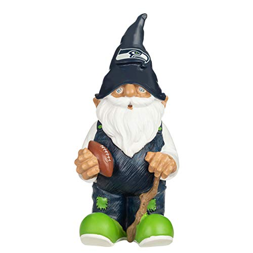 Forever Collectibles UK NFL SEATTLE SEAHAWKS FOOTBALL SOCCER 2008 TEAM GARDEN GNOME ORNAMENT INDOOR/OUTDOOR