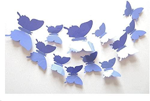TBNB 5 * 12PCS 3D Butterfly Wandaufkleber Art Decal PVC Butterflies Home DIY Dekor (11 Farben erhältlich) (Spiegel Silber)