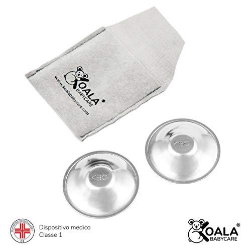 Koala Babycare® Nippelbecher aus 100% Silber, nickelfrei zur Vorbeugung und Behandlung von Brustfissuren während des Stillens Koala Silver Cup für Medizinprodukte der Klasse 1