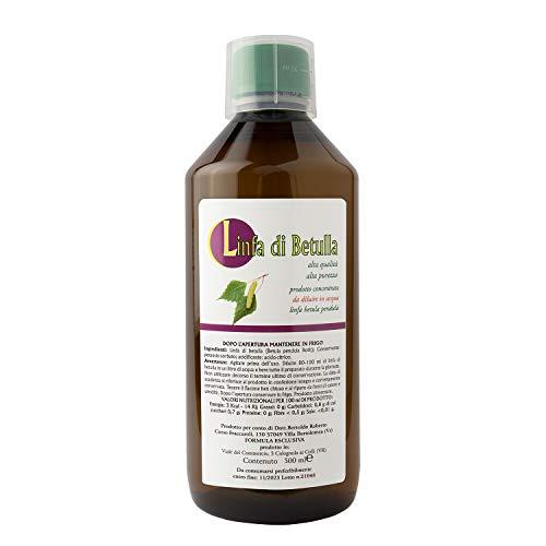 Linfa di Betulla - Drenante Forte - Soluzione Dimagrante Naturale - Contro la Cellulite e la Ritenzione Idrica (500ML)