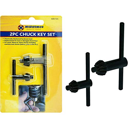 Marksman 2 x Chuck Key Set Drill Machine Accessories Lathes Pillars Professional Power Hand Tools Home Garage DIY Construction Office UK Free P&P