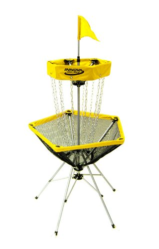 Innova DISCatcher Traveler Target – Portable, Lightweight Disc Golf Basket, Colors May Vary, Yellow