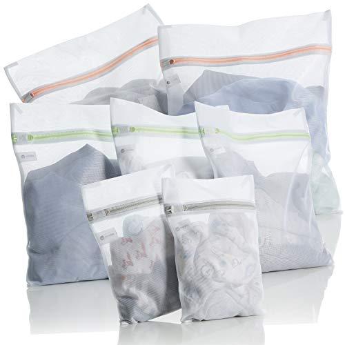 Minobo Wäschenetz [7er Set] - schützt empfindliche Kleidung - Wäschesack Set für Waschmaschinen - besonders strapazierfähig mit zuverlässigem Verschluss