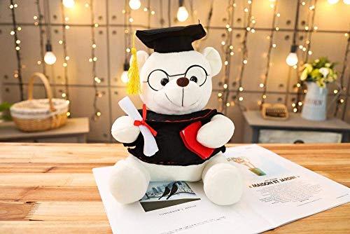 FGBV 1 stück 18-35 cm Dr. Bär Plüschtier Tool gefüllter Teddybär Tierspielzeug for Kinder lustige Abschlussgeschenk for Kinder Home Decor-28cm_White Manmiao