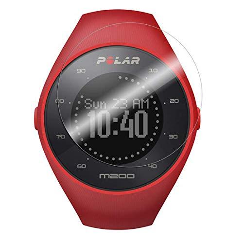 Disscool Protector de pantalla de cristal templado para Polar M200 GPS Running Watch, 0,33 mm de grosor con cristal real