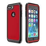 iPhone 7 Plus/iPhone 8 Plus Case, ImpactStrong Ultra Protective Case with Built-in Clear Screen Protector Full Body Cover for iPhone 7 Plus/iPhone 8 Plus (Red)
