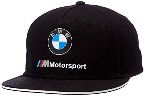 BMW MOTORSPORT Herren Flatbrim Baseball Cap, Schwarz (Black Black), (Herstellergröße: One Size)