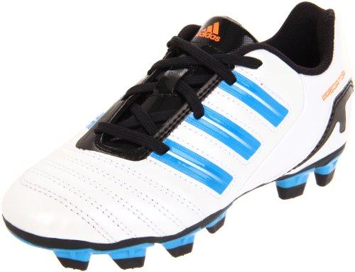 adidas Predito TRX FG Soccer Cleat (Toddler/Little Kid/Big Kid),Predator White/Predator Sharp Blue /Warning,5.5 M US Big Kid