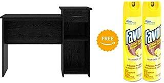 Mainstays Student Desk in Black Ebony Ash Finish with 2pcs of 9.7 Ounces Furniture Polish (Bundle Set)