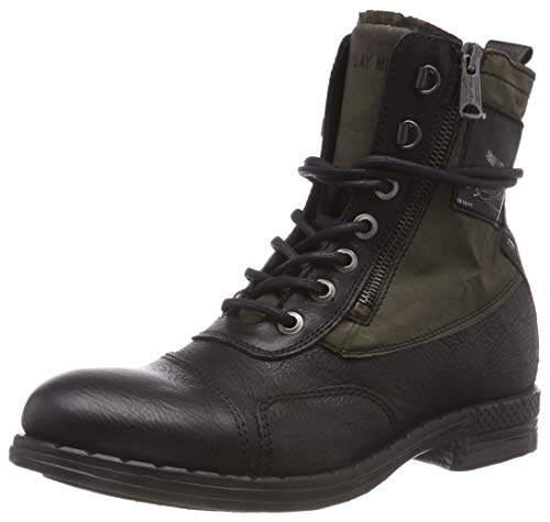 Replay Herren Wickham Biker Boots, Schwarz (Black Army Gr 91), 42 EU