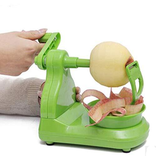 TKFY Apfelpeeler Hand-Kranke Fruchtschäler Multifunktionsrunde Fruchtschäler Haus-Küche halbautomatischen Paring Messer Green Portable Gürtel 200×130.8×110.5mm