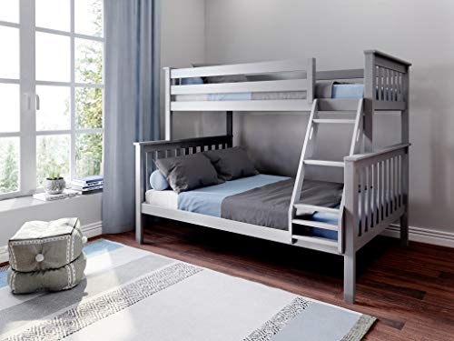 Max & Lily 180231-121 Bunk, Twin/Full, Grey