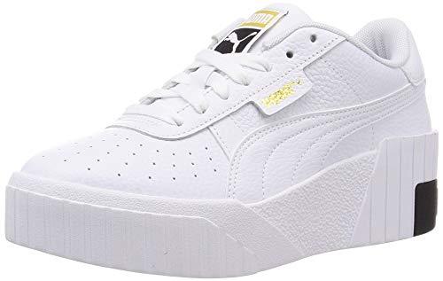 Puma Cali Wedge WN S, Zapatillas Mujer, White Black, 36 EU
