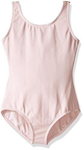 Capezio girls Classic High-Neck Tank Leotard, Pink, Small (4-6)