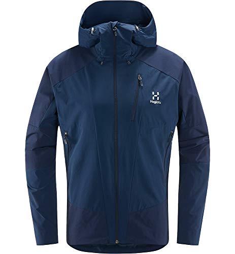 Haglöfs Softshelljacke Herren Skarn Hybrid Jacket wasserabweisend, windabweisend, elastisch, atmungsaktiv Tarn Blue L L