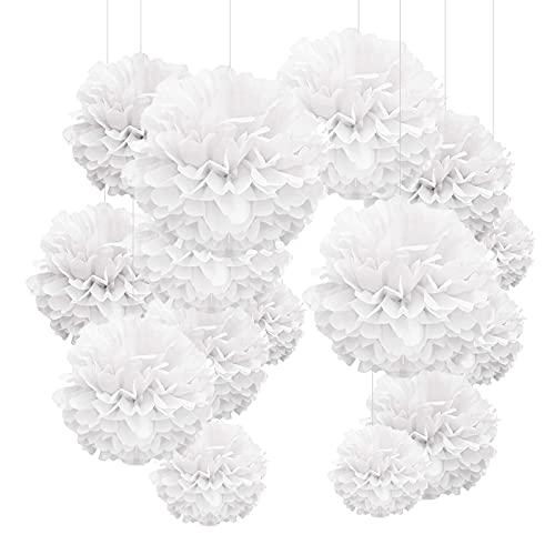 YBwanli 24 pompones de papel de seda, flores de papel, adecuadas para...