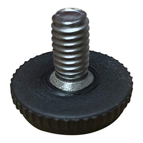 """Project Patio 5/16""""-18 Screw in Threaded Adjustable Feet Glide Levelers for Patio Furniture Chairs and Tables (16)"""